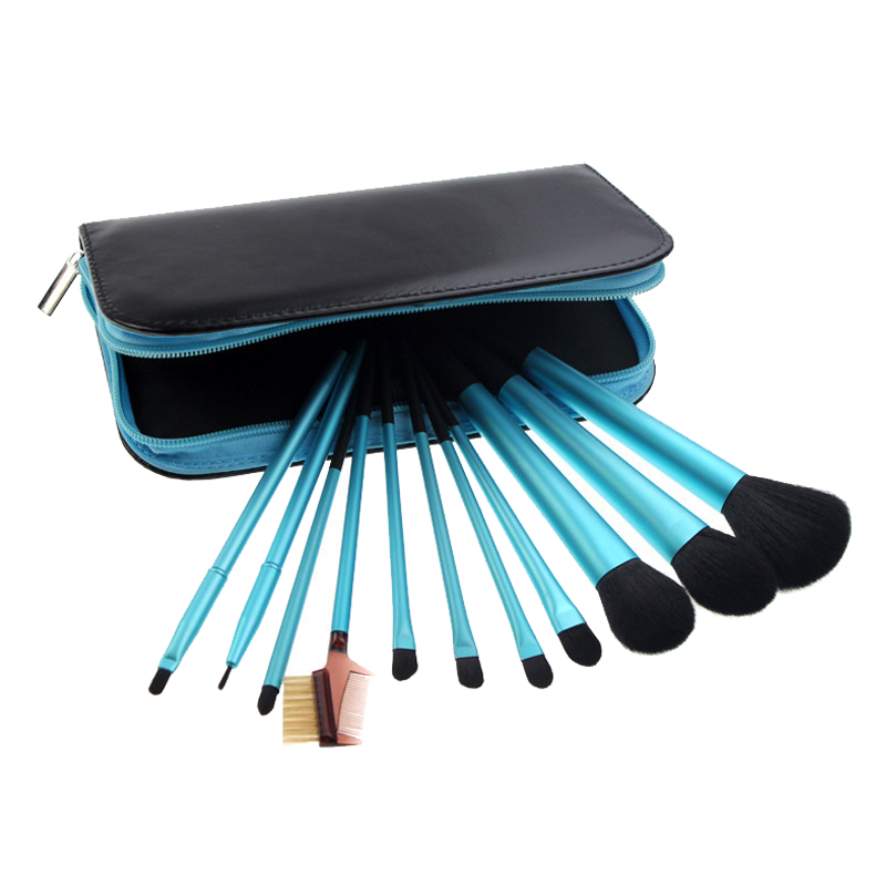 11Pcs Blue New High Quality  Brand Fashion Profesional Brushes Multi-function Combination eyeshadow blusher powder Makeup Kits high quality screwdriver combination set unique telescopic function