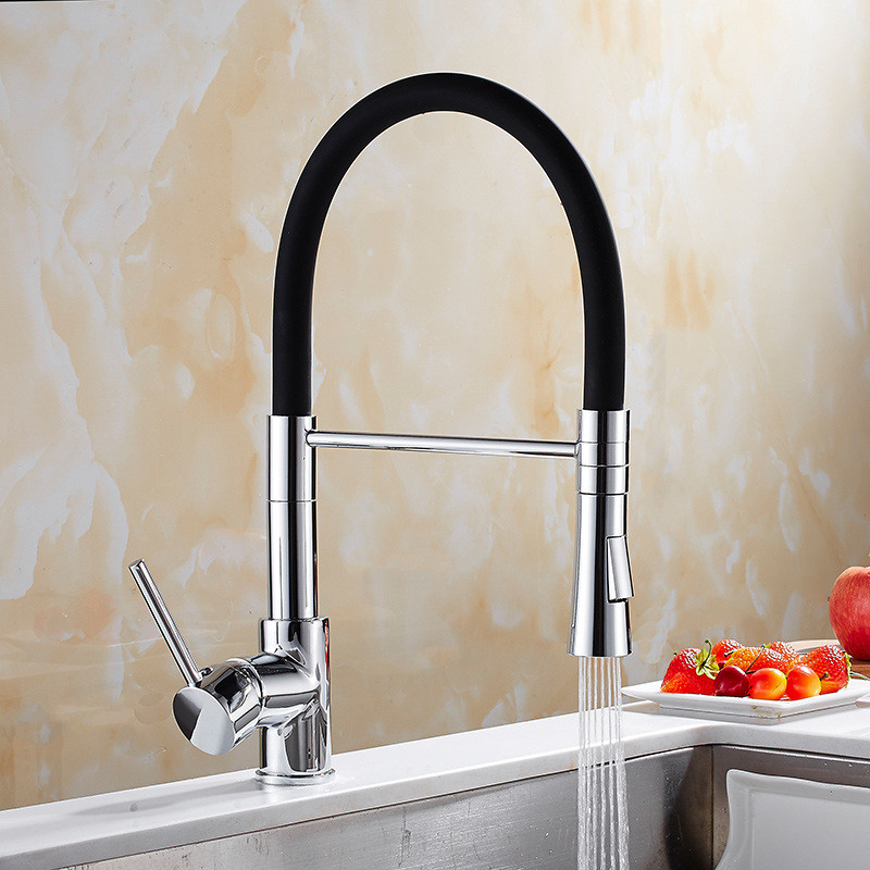 Kitchen Sink Faucet Pull Out Pull Down black Brushed 360 Degree Swivel Single Handle Mixer Tap Kitchen Vegetable Faucet Torneira oil rubbed bronze kitchen faucet single lever pull out kitchen faucet tap square style 360 degree swivel kitchen faucet black