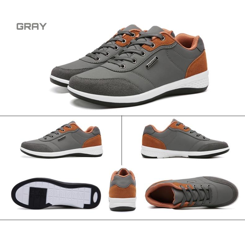 HTB1 .R2lsj B1NjSZFHq6yDWpXac 2019 Autumn New  Men Shoes Lace-Up Men Fashion Shoes Microfiber Leather Casual Shoes Brand Men Sneakers Winter Men FLats