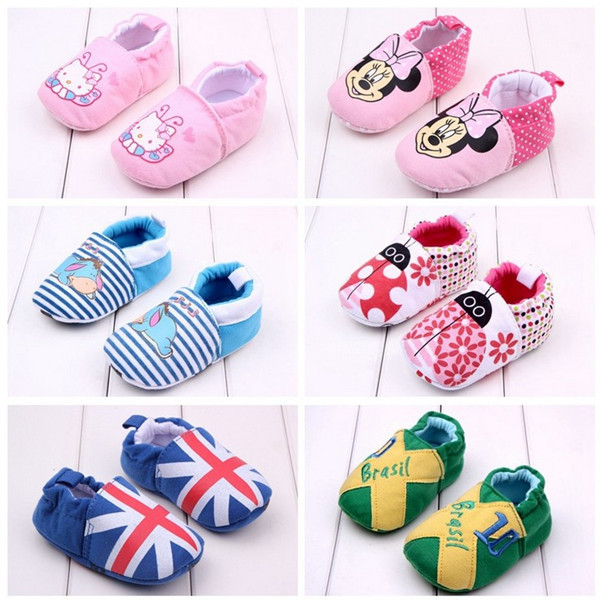 Otoño de 2017 niños y niñas Nacidos skidproof zapatos del niño del bebé zapatos de suela suave 0-18 meses