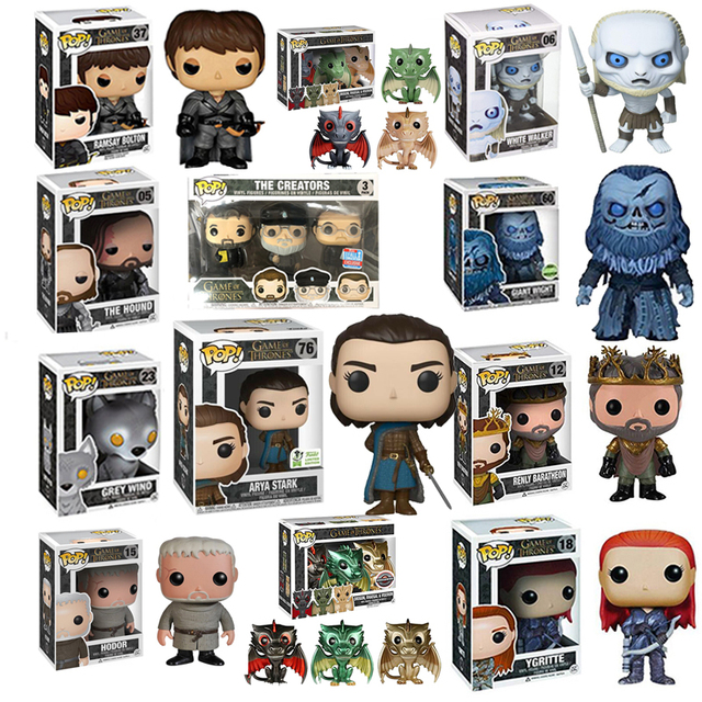 FUNKO POP NEW Game of Thrones ARYA STARK DOS CRIADORES RENLY YGRITTE ROBB STARK Brinquedos Figura presente toy model Collection