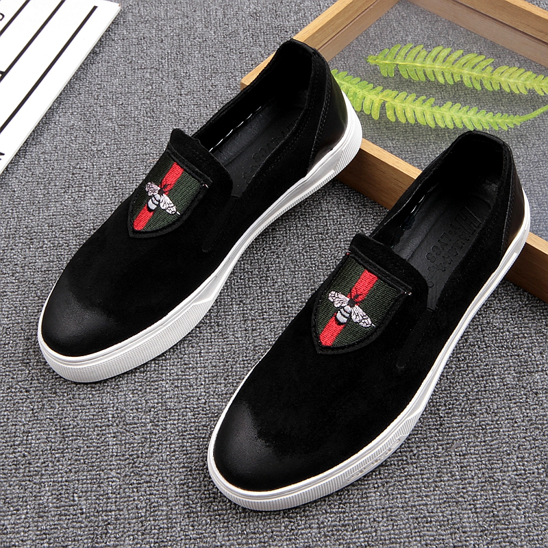 ФОТО 2017 new arrival men genuine leather slip on flat casual shoes driving mocassins men loafers cool guys hip hop shoes size 38-43
