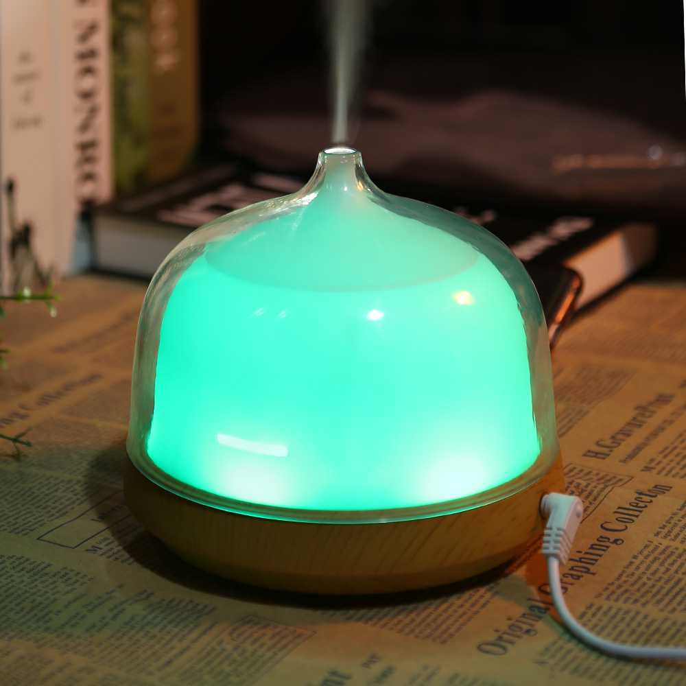 200ml Ultrasonic Air Humidifier Essential Oil Diffuser with 7 Colorful LED Lamp Aroma Diffuser Humidifier For Home Office