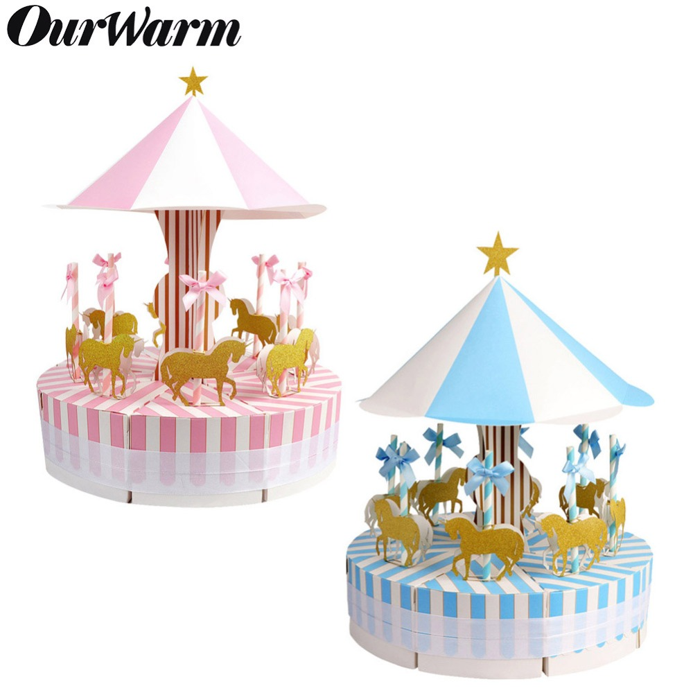 OurWarm Unique Carousel Candy Box For Unicorn Party Gift Birthday Party Decorations Wedding Favors And Gifts Souvenir For Guests