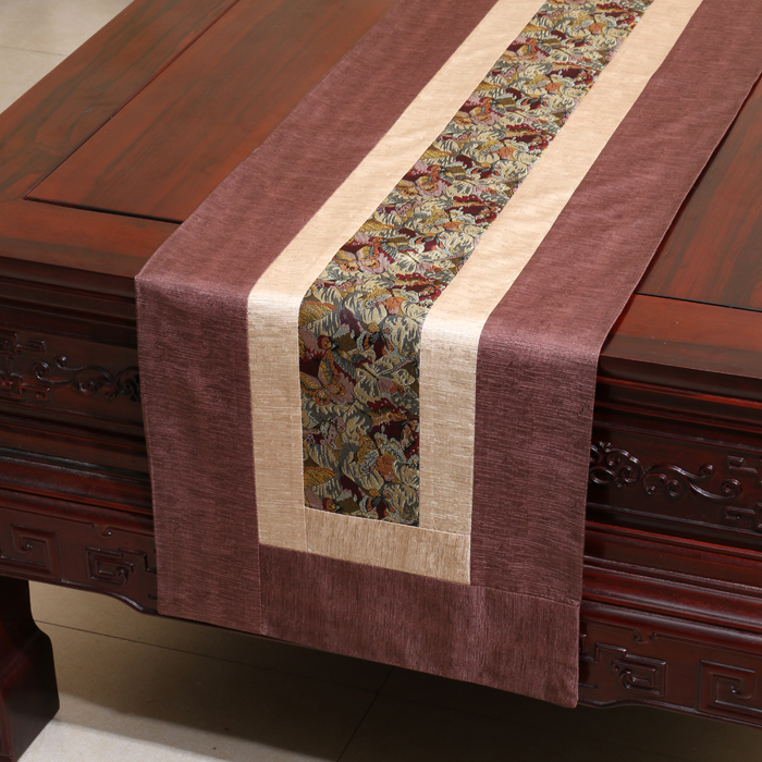 Handmade Rustic Modern Lace Table Runner Patchwork Damask Cotton - Home Textile - Photo 2