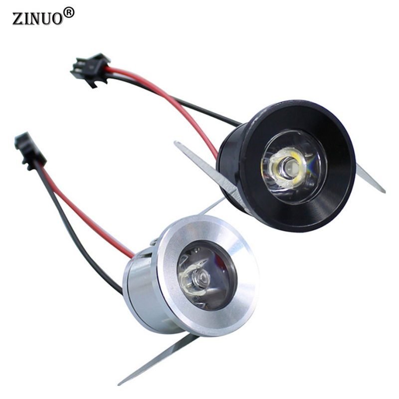 ZINUO 5pcs/Lot Mini LED Spotlight 1W 3W Epistar LED Cabinet Light AC85-265V LED Ceiling Lamp Warm Cold white LED Wall lamp