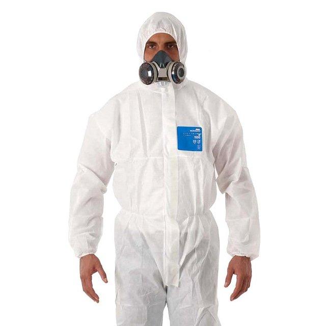 1500 reforzado piezas de polvo y partículas de polvo antiestático ropa limpia ropa de protección con tapa transpirable spray de protección