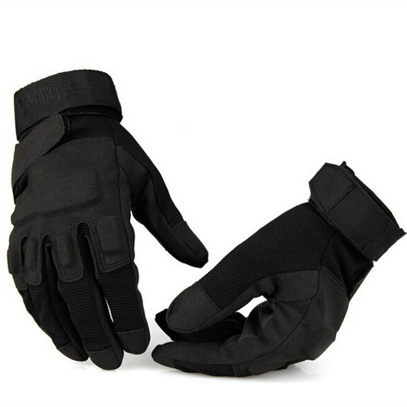 Outdoor Men's Army Gloves Man Full Finger Gloves Military Police Safety Gloves Speed Dry Anti-Slippery Leather Tactical Gloves