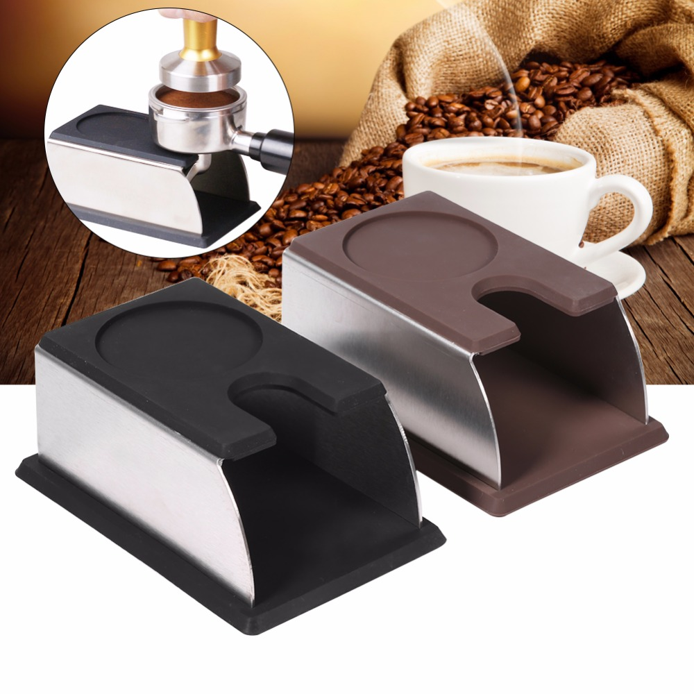 Silicone Espresso tamper holder support base rack Coffee Tamper Shelf Black Coffee 14 x 7 5