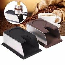 Silikon Espresso tamper halter unterstützung basis rack Kaffee Tamper Regal Schwarz/Kaffee 14×7,5×6,5 cm