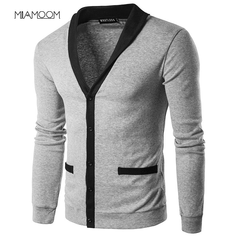 Mens Sweaters Knitwear New Men's Fashion Collared Lapel Cardigan Sweater With Matching Color