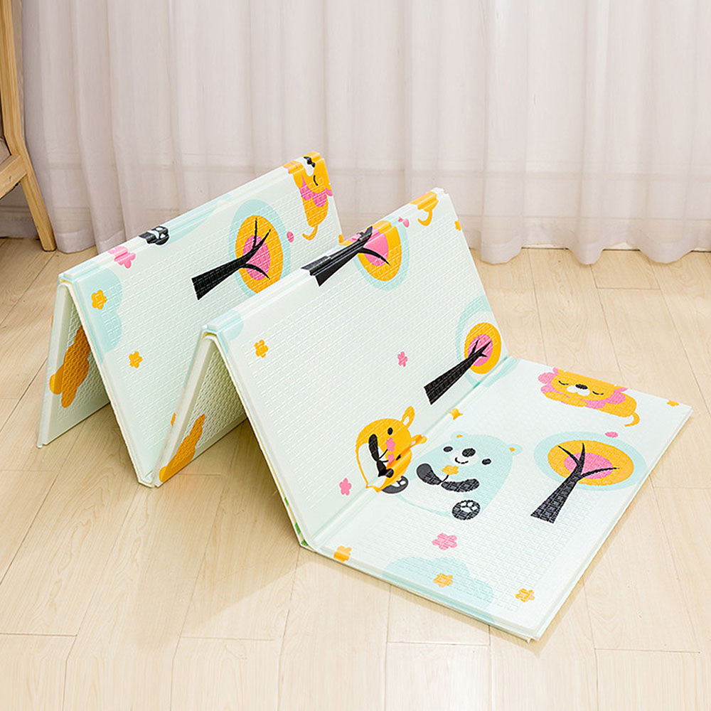 XPE Folding Toy Crawling Mat 1.5*2.0M Foam Two-Sided Pattern Baby Climbing Mat Children Thickening Game Pad Living Room Home Mat
