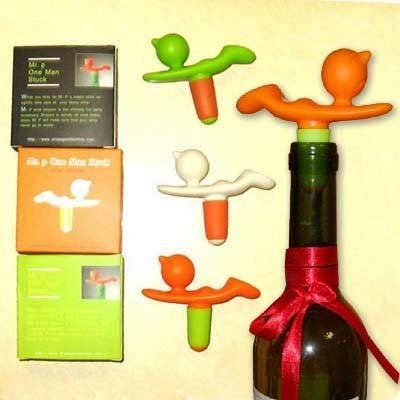 Funny Mr P Red Wine Bottle Stopper Wine Stopper Executive Gift Promotional Gift 100 pcs a Lot