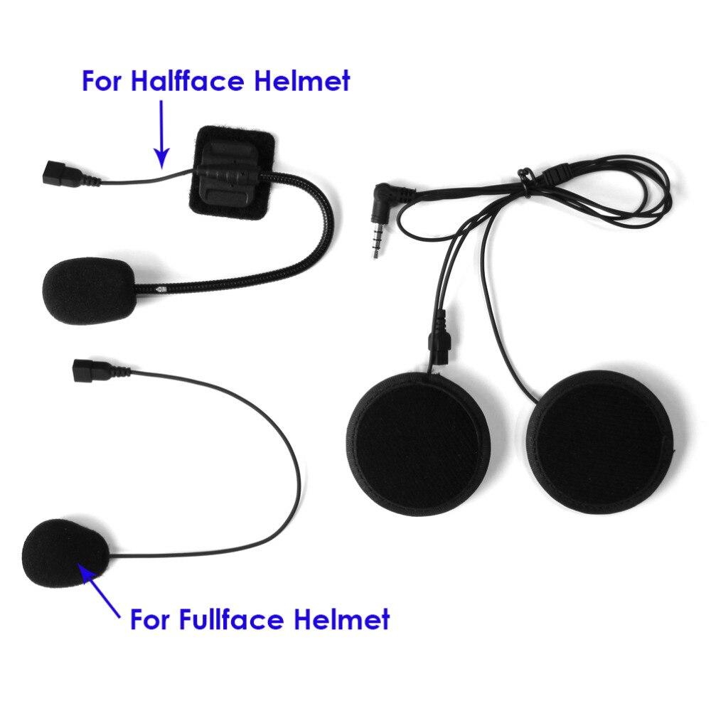 Brand Lexin intercom Headset & Clip Set Accessories for LX-B4FM Bluetooth Helmet Interphone Intercom Headphone Jack Plug