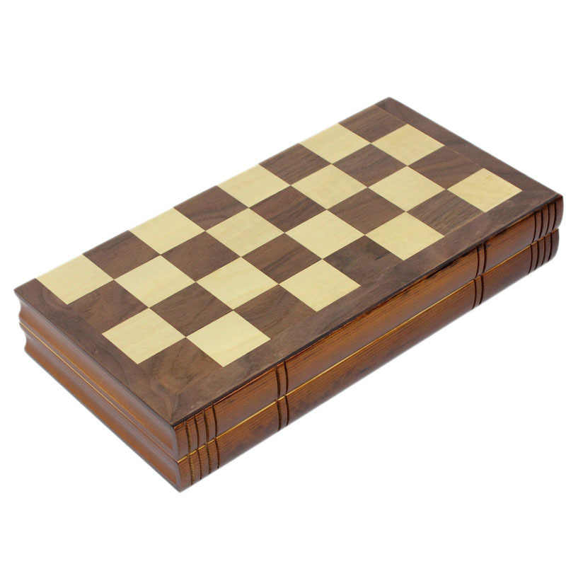 Foreign Trade Adult Children's Real Wooden Large Folding Spell Chess  Students Puzzle Table Games