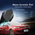 VLT 25% 2Mil темно-коричневая нано-Керамическая Солнечная пленка для окон  тонированное уличное стекло uv99% для автомобиля  домашнего окна 100x600cm