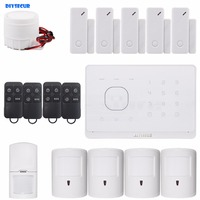 Application Controlled Wireless GSM Home Burglar Alarm System Pet Friendly PIR Detector RFID Card