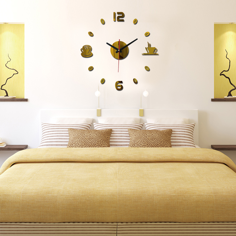 free shipping 2017 new diy wall sticker clock europe style acrylic ...