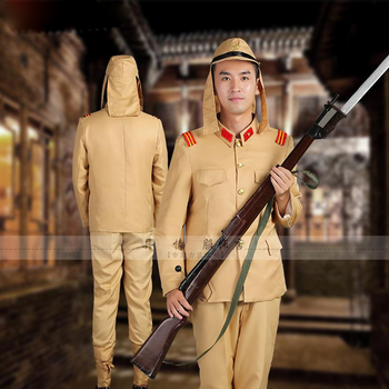 Japan Soldier clothing uniform monitor major Da Zuo drama stage costumes The Second War Imperial Japanese Army
