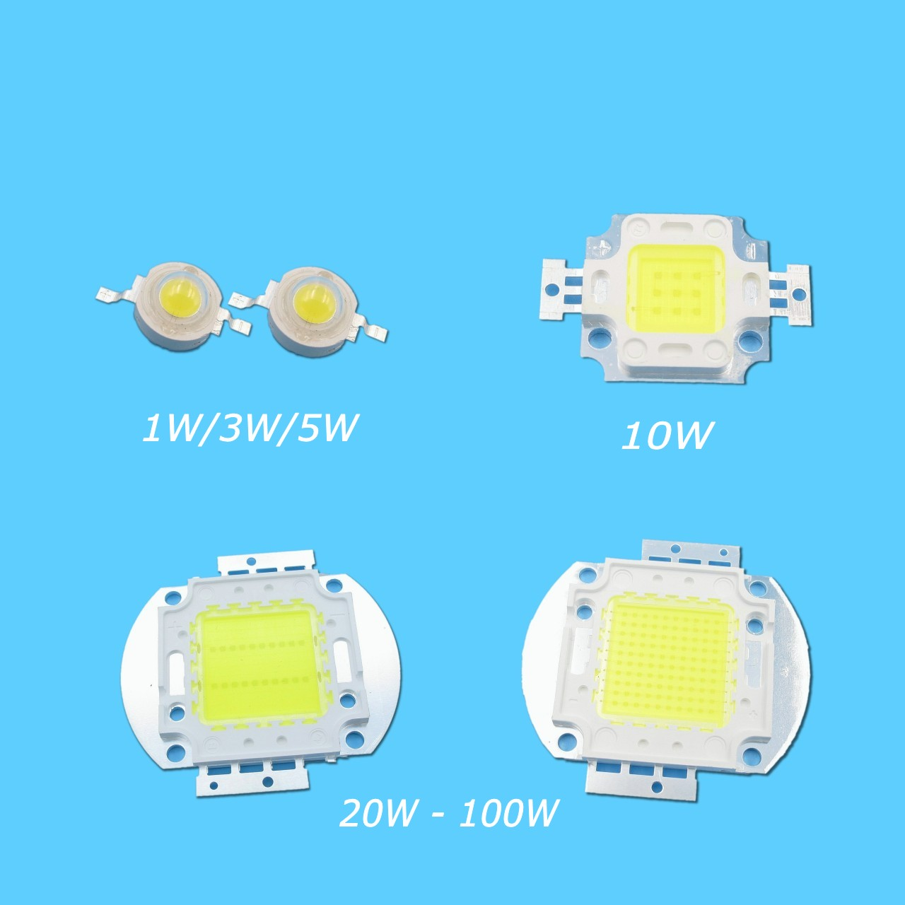 Jiaderui High Power <font><b>LED</b></font> Bulb Chip Cool White 1W 3W 5W 10W 20W 30W 50W 100W COB SMD Light Epistar 10000K 20000K <font><b>30000K</b></font> image