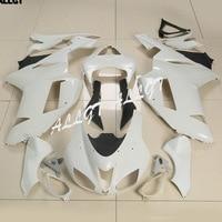 Fairing Body Set Kits For KAWASAKI Ninja ZX6R ZX 6R ZX600P 2007 2008 Unpainted White 1 Set