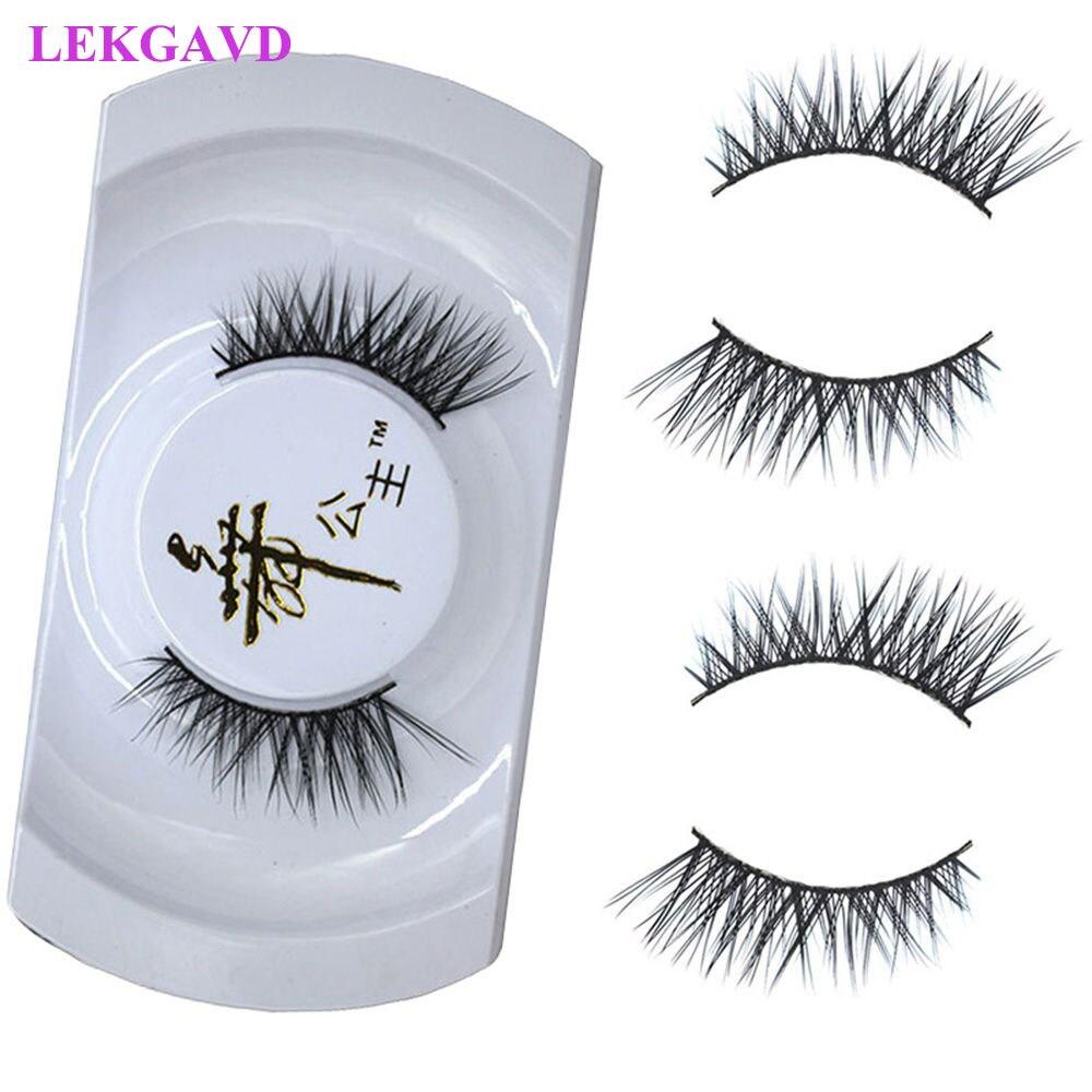 Moda preto luxuoso 100% vison real natural grosso cílios de olho falso alta qualidade cruz meia cílios venda quente