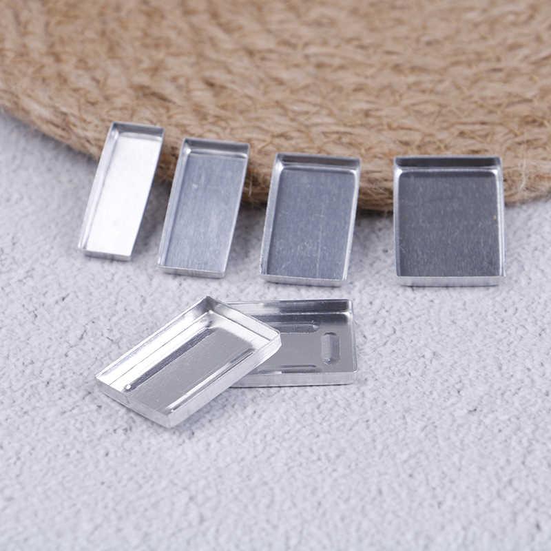 10 шт. алюминиевые квадратные Пустые Тени для век кастрюли макияж Пигмент палитра порошок чехол для хранения DIY косметические инструменты 6 размеров