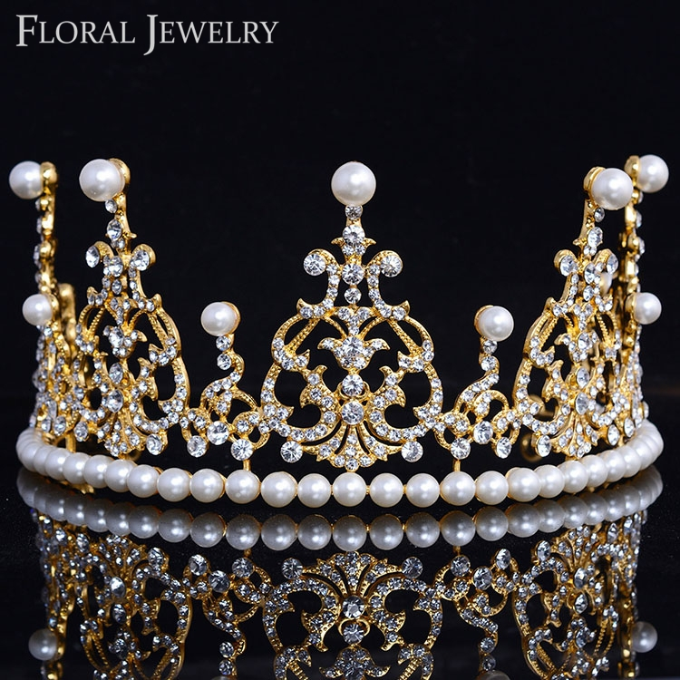 Gold Royalty Princess Queens Crown Wedding Bridal