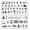 1 шт. хэллоуин и рождество рождество тема Designs ногтей штамповка шаблоны полотна ногтей штамп шаблон плиты изображения