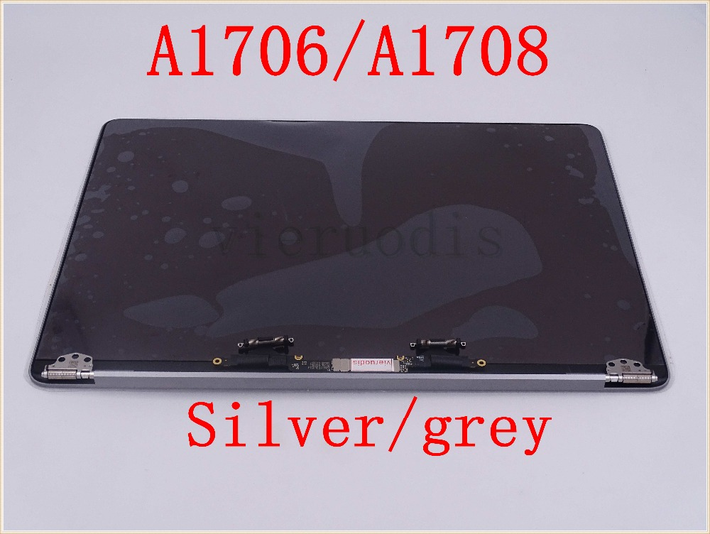 "Laptop Silver Space Grey 13'' A1706 A1708 LCD Screen Display Assembly For Macbook Retina 13"" Full Complete LCD 2016 2017 Year(China)"