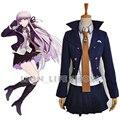 Dangan ronpa 2 kirigiri kyoko cosplay school costume dress por encargo