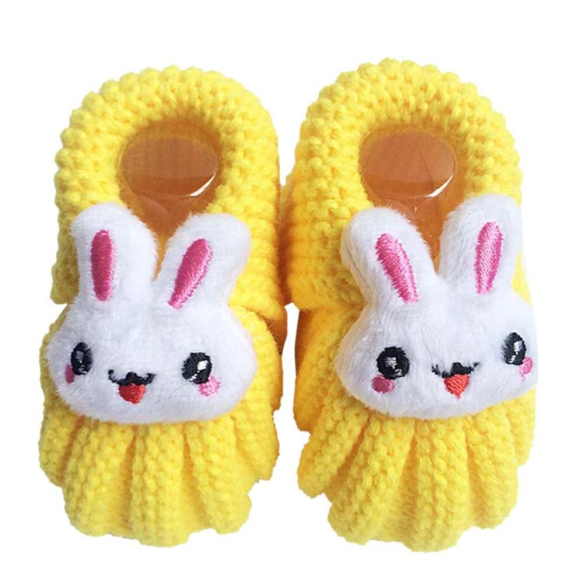 7984342882a3a Ten colors Cute Rabbit crochet baby shoes Handmade Knit High top baby boy  girl shoes winter first walkers newborn Dropshipping-in First Walkers from  Mother ...