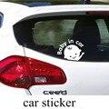 Novo design bebê menino do bebê em etiqueta do carro personalidade Reflexiva etiqueta do carro adesivos de carro janela traseira adesivos de advertência
