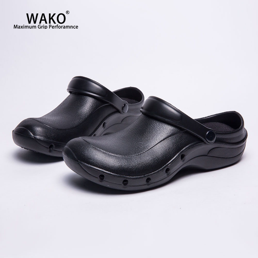 WAKO Working Chef Shoes Slip On For Men Women Non Slip Kitchen Cook Clogs Sandals Anti
