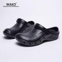 WAKO/Рабочая обувь повара, слипоны для мужчин и женщин, Нескользящие кухонные сандалии на деревянной подошве, противоскользящая ресторанная защитная Рабочая обувь 9016