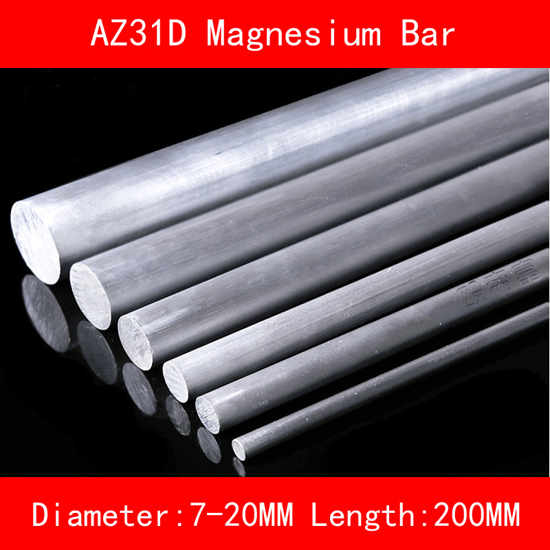 Diameter 7mm 12mm 16mm 20mm Length 200mm AZ31D Magnesium Bar Mg Metal rod include nickel 304 stainless steel pipe tube outer diameter 20mm wall thickness 1 5mm length 200mm