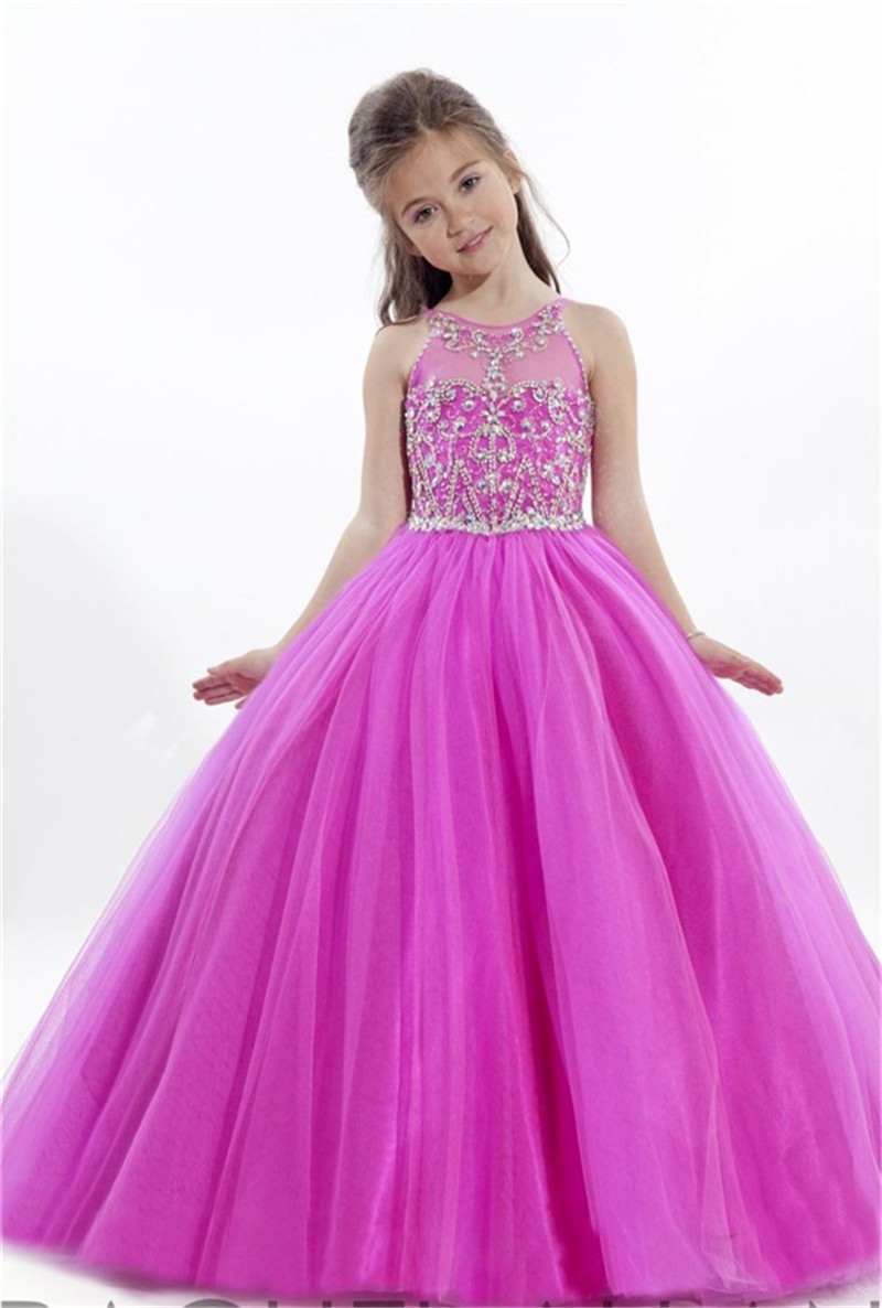 2015 flower girls dresses for party and wedding beaded pageant dresses for little girls robe ceremonie