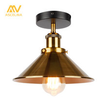 hot deal buy ascelina vintage retro ceiling lights for living room loft industrial decor luminaire led ceiling lamp metal kitchen fixtures