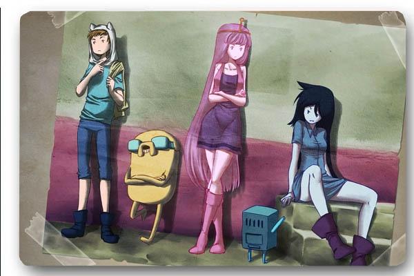 Custom Front Door Mat Adventure Time Cartoon Anti Slip Kitchen
