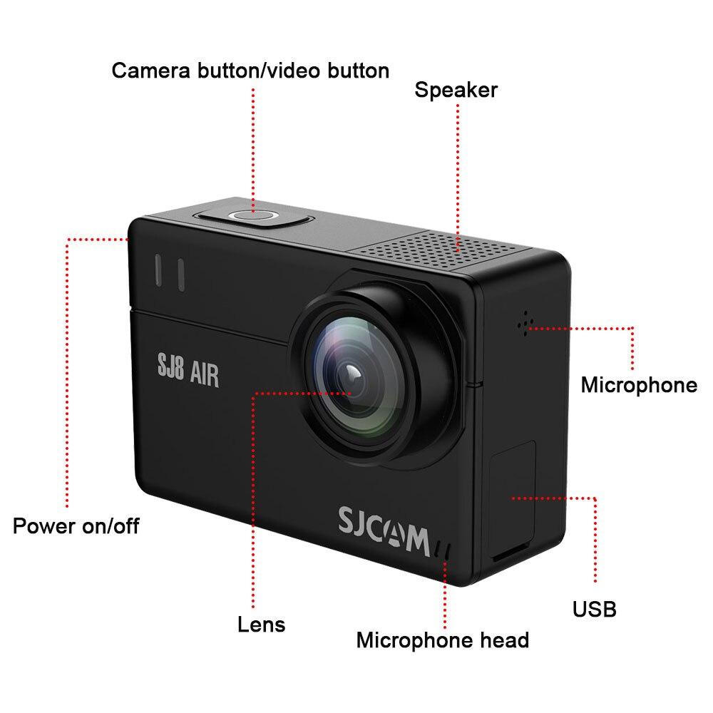 Originele SJCAM SJ8 Pro/SJ8 Plus/SJ8 Actie Camera WiFi 4K 1200mAh HD DVR Camcorder Remote controle GAAN Waterdicht pro Sport Cam - 5