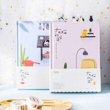 Корейский кавайный милый кот домашний ежедневный планировщик блокнот-органайзер Ежедневник A5 лучший подарок для студента