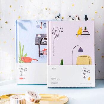 2019 Coreano Kawaii Gato Bonito Início Diário Cronograma Notebook Organizador Planejador Agenda Pessoal Planbook A5 Melhor Para Presente Do Estudante