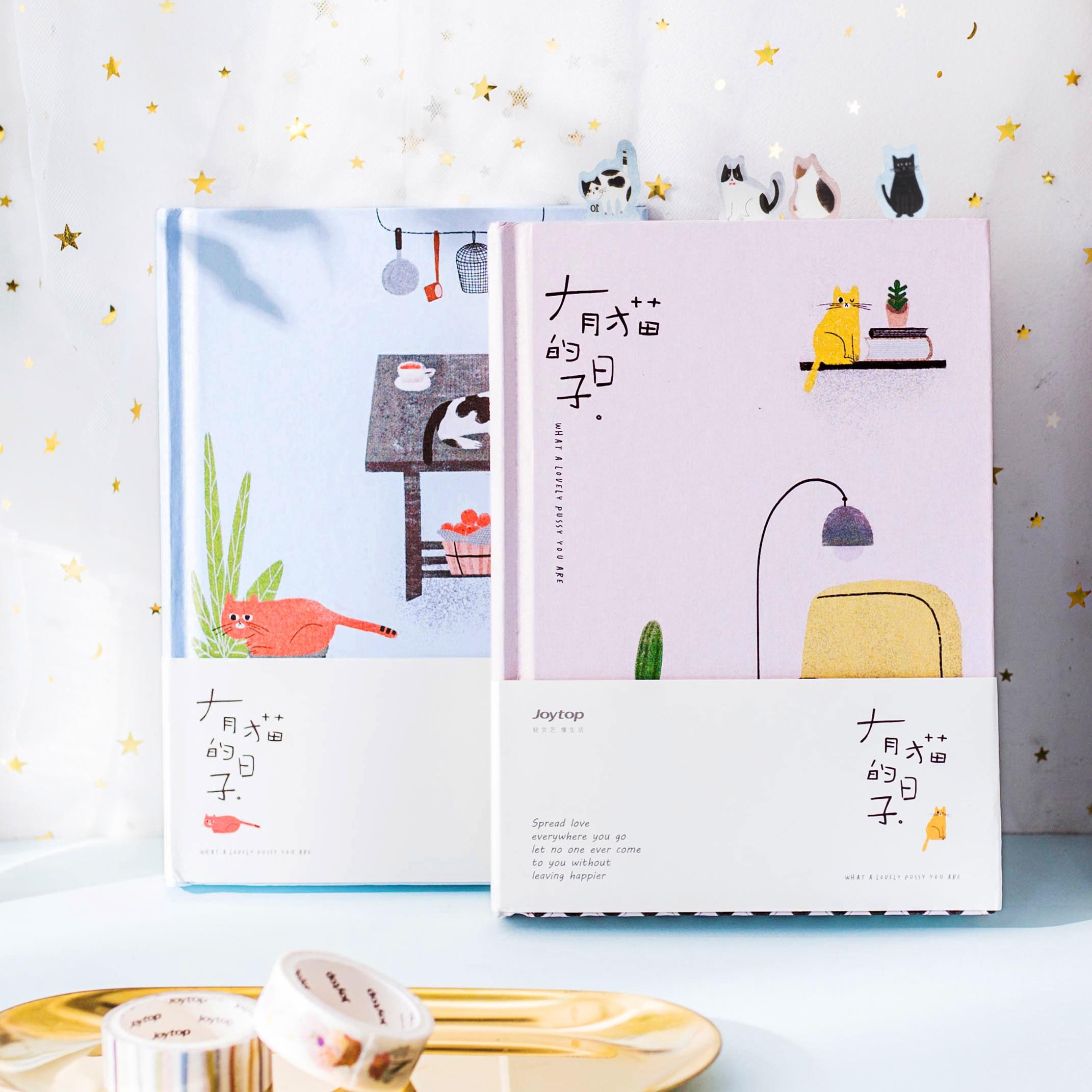 2019 de Corea Kawaii lindo gato casa horario diario Personal organizador planificador cuaderno Planbook A5 mejor para regalo de Estudiante