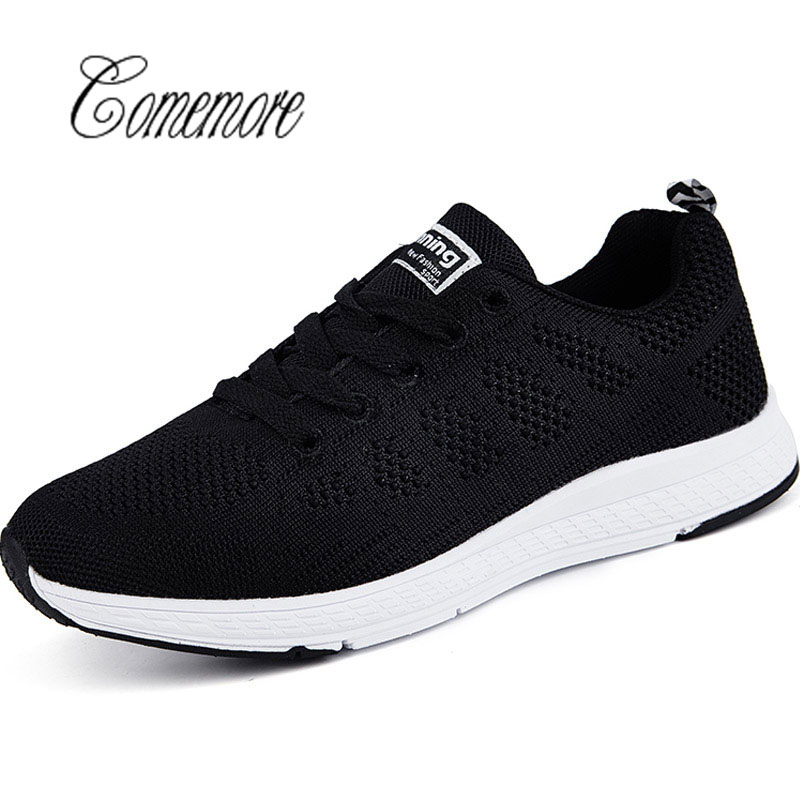 Aggressive Comemore Running Shoes For Men Women Sneakers 2018 Sport Knit Mesh Breathable Jogging Gym Male Krasovki Adult Gumshoes Cool In Summer And Warm In Winter Running Shoes