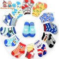 Envío gratis 12 par/lote baby girls boy calcetines unisex al por mayor antideslizante calcetines de bebé calcetines infantiles 0-3years atws0001