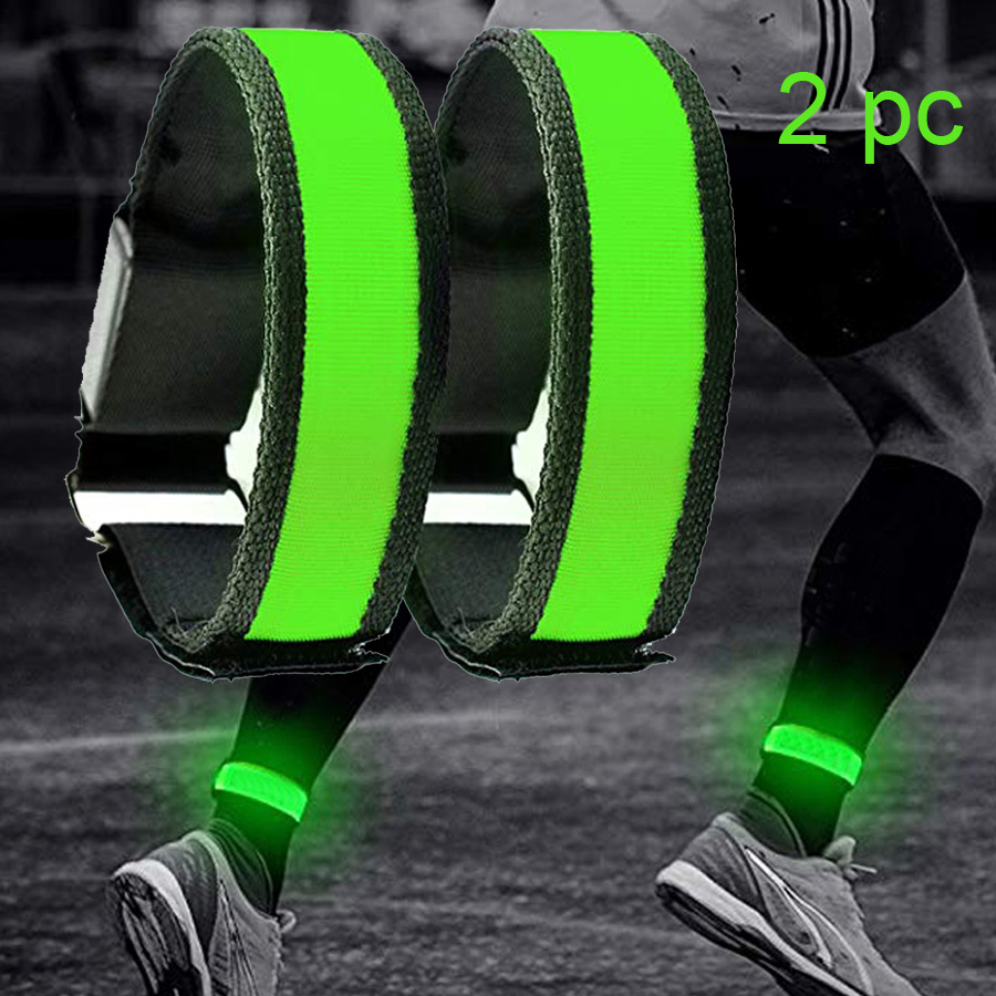2 Pack Running Light Sports LED Wristbands Adjustable Glowing Bracelets for Runners Joggers Cyclists Riding Safety Bike Bicycle Harley-Davidson Sportster