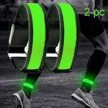 2 Pack bieganie światło sportowe opaski LED regulowane świecące bransoletki dla biegaczy joggers rowerzyści jazda rowerem bezpieczeństwo rower tanie tanio opaski ochronne Baterii Bieganie światło rowerowe Nowa BOLER Ramki