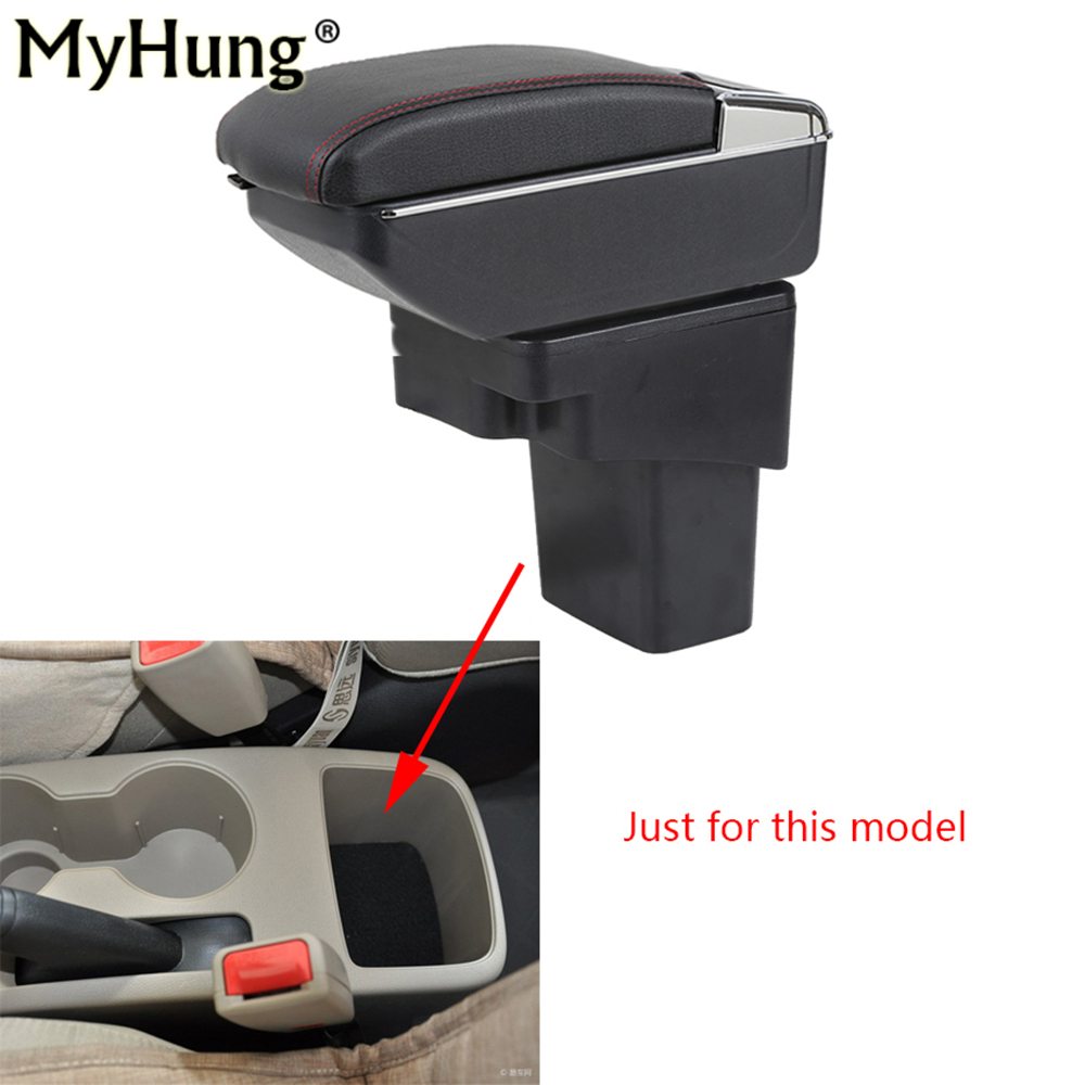 цена на Armrest box For Hyundai Solaris Verna Grand Avega Central Console Armrest Car box with cup holder With Rise and Down Function
