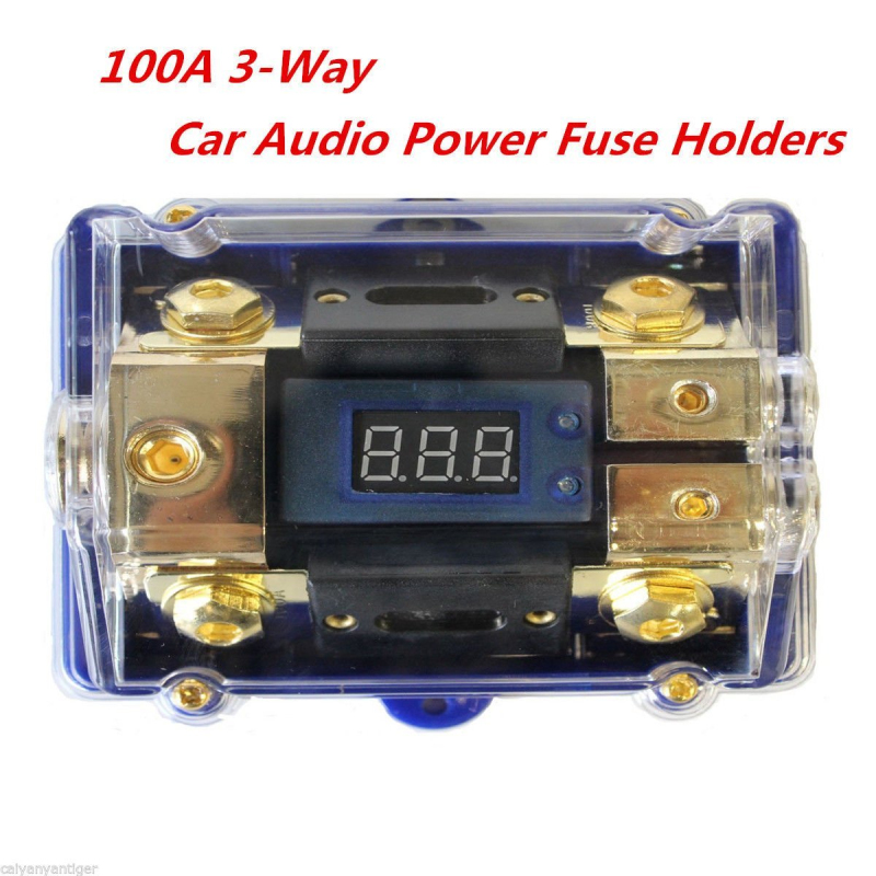 Porte-fusible de puissance Audio de voiture à 3 voies bloc de Distribution stéréo boîte à fusibles/affichage LED