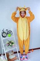 New Adult Onesies Animal Orange Bull Cosplay Pajamas Sleepwear Costume Pyjamas Unisex Halloween Sleepsuit Homewear